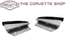 C3 Corvette Water Diverter Door Sill Plate Pair Left Right 1972-1977 34023 34024