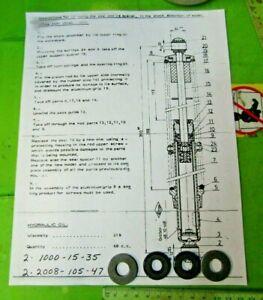 Montesa Cota 348 349 Betor Rear Shock Seal Kit  p/n 5140.035 NOS 51M 1976-1984