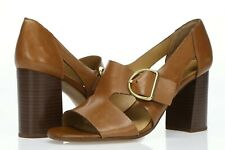 FRANCO SARTO Women's 'Mirabel' Brown Leather Buckle Pumps Sz 12 M - 232226