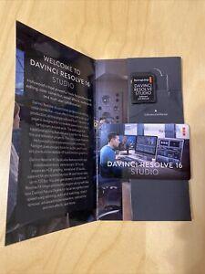 Davinci resolve studio 16 SOFTWARE