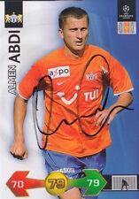 FC ZURICH ALMEN ABDI HAND SIGNED PANINI CHAMPIONS LEAGUE CARD.