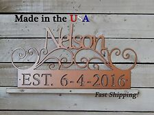 Last Name, Established, Family Wedding Gift, Anniversary, Personalized, S1150