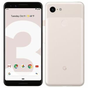 """Google Pixel 3 64GB Pink 4GB RAM 5.5"""" IP68 Octa-core Android Phone By FedEx"""