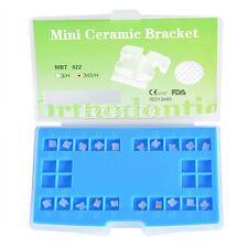 New Dental Orthodontic Ceramic Bracket 5*5 Slot MBT 0.022 Hooks 3-4-5 Mesh Base