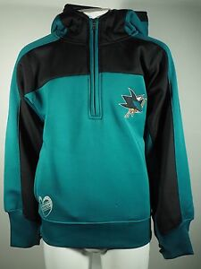 Reebok NHL San Jose Sharks Youth Size Girls Sweatshirt Official With Thumb Holes