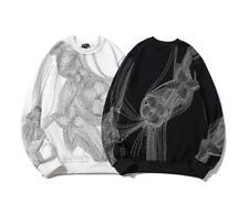 Men's Fashion Pullover Sweatshirts Long Sleeve hoodies Pop Men's Clothing 3123
