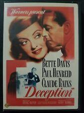 Deception (DVD, 2008) Bette Davis, Paul Henreid, Claude Rains 1946 Region 1 OOP
