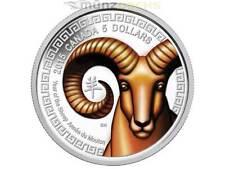 5 $ Dollar Lunar Jahr des Schaf Sheep Ziege Kanada 2015 Silber PP