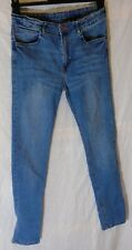 Boys H&M Classic Blue Whiskered Denim Skinny Fit Jeans Age 14-15 Years