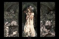 VICTORIA FRANCES ~ ANGELS TRIPTYCH 24x36 ART POSTER NEW/ROLLED!