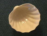 Vintage Irish Belleek Neptune Shell Footed Sugar Bowl Brown Mark '89-'92