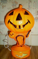 Vintage HALLOWEEN Blow Mold JOL Cat Lighted