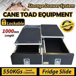 100CM Vehicle Storage Drawers Cargo Rear Drawer 100CMw Fridge Slide Universal Lo