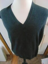NWT Joseph Abboud Gray V-Neck Extra Fine Merino Wool Sweater Vest 3X New