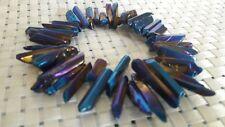 Titanium Rainbow Aura Quartz Crystal Stone Bracelet AAAAA +++++