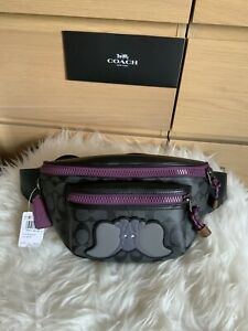 NWT Coach 89905 Disney X Terrain Belt Bag in Signature Canvas with Dumbo
