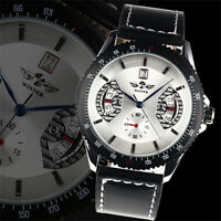 Mens Watch Automatic White Dial Stainless Steel Case Date Analog Display Luxury