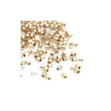 10 grammes de Perles Miyuki Delica Champagne Hexagone Argent Ligné, 2mm (Env. 14