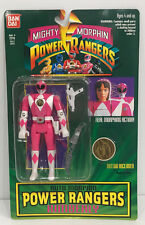 1994 Mighty Morphin Power Rangers Pink Ranger Flip Head Action Figure Moc