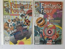 FANTASTIC FOUR COMIC BOOK LOT OF 2, Numbers 337 and 338 (Marvel Feb-1990)
