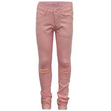 Jeans rose pour fille de 2 à 16 ans en 100% coton