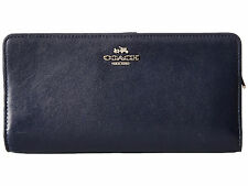$150 AUTHENTIC COACH SKINNY WALLET IN COLOR BLOCK LEATHER NAVY BLUE Continental