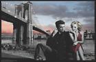 "Marilyn Monroe, James Dean Brooklyn Bridge by Chris Consani Poster - 17"" x 11"""