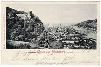 Gruss aus Heidelberg, s/w Ansichtskarte von 1898