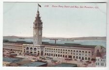 [52343] Old Postcard Trolley Cars At Union Ferry Depot, San Francisco, Calif.