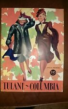 1939 Tulane Green Wave v Columbia Lions NCAA  Football Program