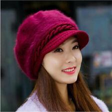 femmes femmes hiver chaud CROCHET TRICOT BONNET mou bonnet 4 coloris
