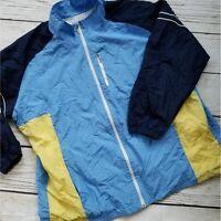 Vintage Color Blocked Windbreaker Full Zip Jacket