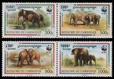 Kambodscha 1997 - Mi-Nr. 1680-1683 ** - MNH - Elefant / Elephant