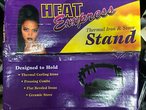 Heat Exxpress Thermal Styling Curling Iron Stand/Holder For Flat Beveled Irons