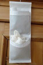 Utensilo Hängeaufbewahrung Leinen edel beige/weiß innen plastifiziert neu