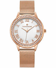 Timothy Stone Women's 'Parker' Crystal Accented Rose Gold Tone Mesh Watch