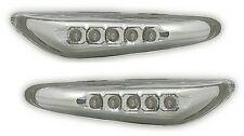 CLIGNOTANTS LATERAUX LED CHROME BMW SERIE 3 E46 SERIE 5 E60 E61 X3 E83