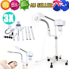 2 in 1 Facial Steamer 3x Magnifying Lamp Hot Ozone Machine Spa Salon Beauty