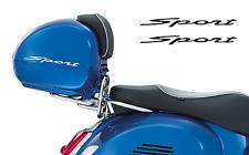 Vespa GT GTS 'Sport' Topcase Top box Koffer Aufkleber 2Stk. Satz V.1 Weiss