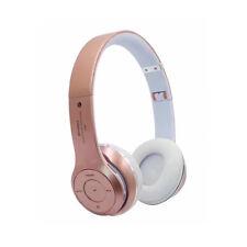 Bluetooth 4.0 Wireless Headphones Stereo Foldable Headset FM MP3 Rose Gold/Black