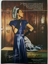 9ca042a3f19 1946 women s Stonecutter Chardon satin fabric Jo Copeland of Patullo fashion  ad