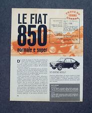 AC63 - Clipping-Ritaglio -1963- FIAT 850 NORMALE E SUPER , PROVE SU STRADA