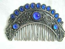 Rare vintage hair accessories tibetan silver comb