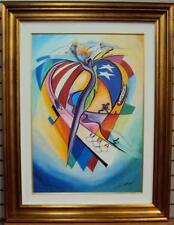 """USOC OLYMPIC CELEBRATION"" by Alfred Alex Gockel - Limited Edition Canvas Giclee"
