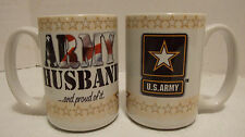 Military US Army Coffee Mug  Cup15 oz USA made US Army Husband and Proud of It