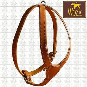 WOZA MOPS HARNESS FULL LEATHER BULLDOG HARNESS PADDED COW SOFT NAPA HANDMADE 222