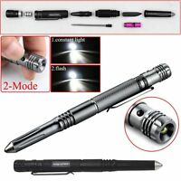 5 in 1 Portable LED Flashlight Torch Lamp Pen Tactical Self Defense Tool