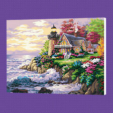 Seaside Villa DIY Paint By Number Kits On Canvas Digital Oil Painting Home Decor