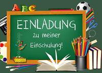 8 Einladungskarten Einschulung Schulanfang Einladung Einschulungskarten Schule