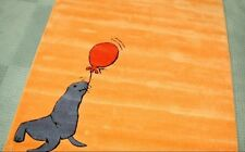 VENTA! Arte Espina TEPPICH handtuft león marino naranja NUEVO